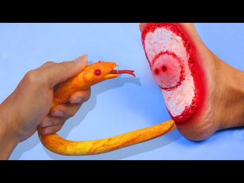 Stop motion Cooking 🌿 How To make SNAKE FOOD Mukbang 🌿 Funny Videos ASMR Eating 4K