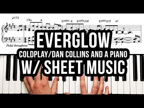 coldplay everglow piano sheet music free pdf