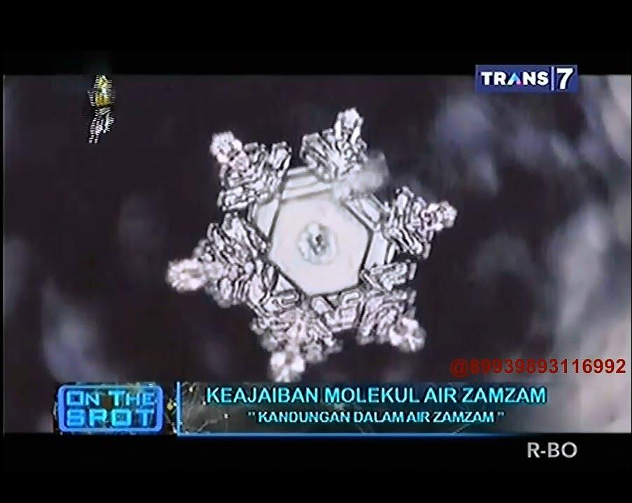 Gambar Molekul Air Zam Zam On The Spot Keajaiban Molekul Air Zamzam Youtube