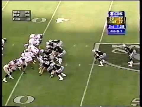 Chargers vs. Raiders, 2001