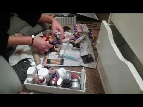 ASMR- Make-up Declutter and Organizing-no talking