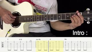 Kekasih Bayangan - Cakra Khan - Fingerstyle Guitar Tutorial.