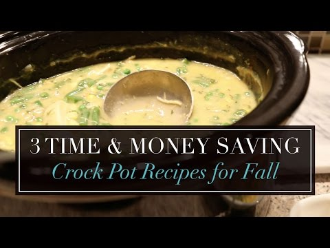 3 Time & Money Saving Crock Pot Recipes for Fall or Winter | Meal Planning Inspiration