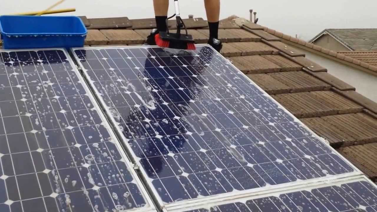 Solar Panel Cleaning Washing Services Youtube