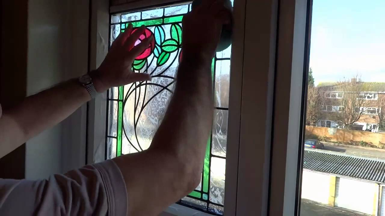Applying Peels Of London Stained Glass Window Film To Your Window.   YouTube