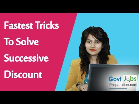 Fastest Tricks To Solve Successive Discount