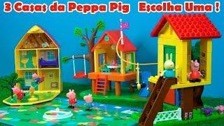 3 CASAS da PEPPA PIG LINDAS  #PEPPAPIG #ILOVEPEPPAPIG