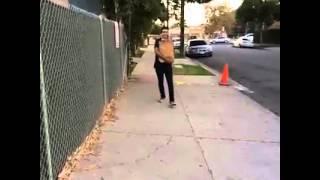 Face slam on concrete