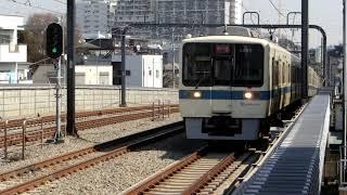 小田急8000形(8059F+8259F) 回送電車通過 梅ヶ丘にて
