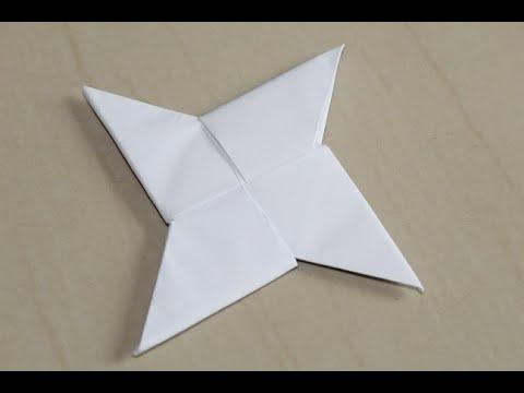 DIY - How To Make a Paper Ninja Star (Shuriken) - Origami