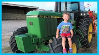 Tractors for kids working on the farm | How to make hay