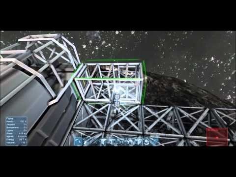 Space Engineers Red Ship Crash Survival Day 10 Station on Asteroid