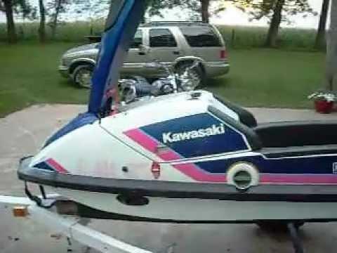 1989 kawasaki 650 sx stand-up jet ski - youtube