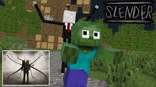 Monster School : SLENDERMAN HORROR GAME CHALLENGE - Minecraft Animation