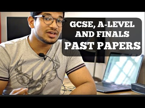 GCSE, A-Levels And FINALS Revision - PAST PAPERS