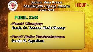 Jadwal Misa Online Pekan Suci 2021 Youtube