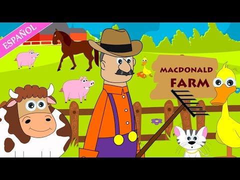Old Macdonald had a farm nursery rhyme | Nursery Rhymes - Spanish (Canciones infantiles)