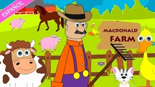 Old Macdonald had a farm nursery rhyme | Nursery Rhymes - Spanish (Canciones infantiles)