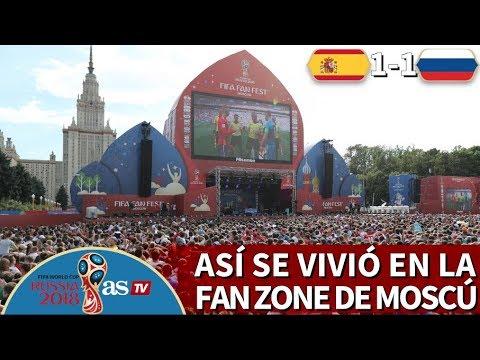 España 1-1 Rusia | Así Se Vivió El Partido Y La Fiesta Desde La Fan Zone De Moscú I Diario AS