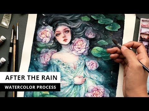 After The Rain | Watercolor Process