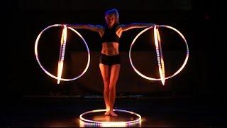 Satya Bella Hypnotizing Mutli-Phoenix LED Hoop Act