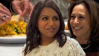 Kamala Harris & Mindy Kaling Cook Masala Dosa