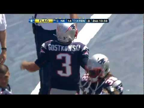 Stephen Gostkowski lays the wood on Darius Reynaud!