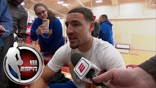 Klay Thompson talks viral local news interview and hostility in Oklahoma City   NBA on ESPN