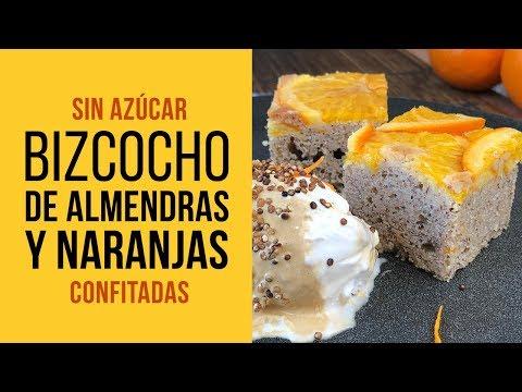 Bizcocho sin Azúcar de Almendras y Naranja Confitada con Sucralín