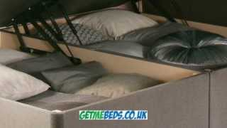 New Divan Ottoman Bed - Upholstered, Multiple Fabrics