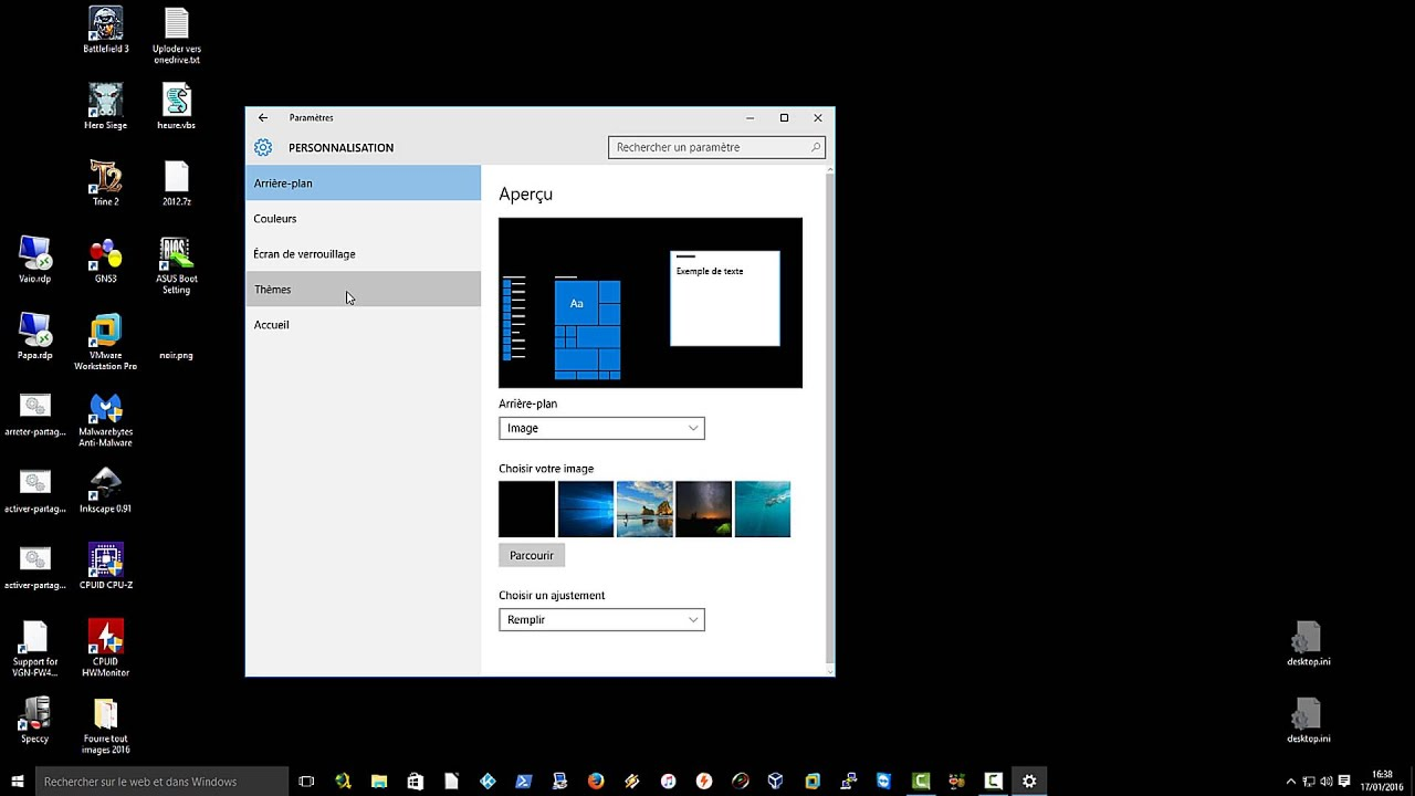 Retrouver les ic nes du bureau windows 10 youtube for Bureau windows 8