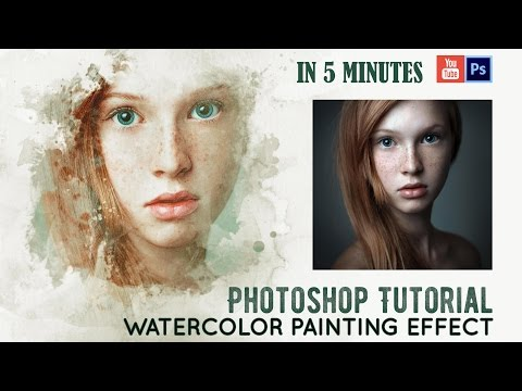 Watercolor Painting Effect | Tutorial | IN 5 MINUTES Fast