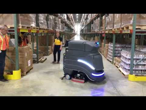 DHL Demos Avidbots Neo Robotic Floor Scrubber