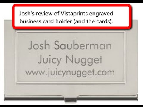 Vistaprint business card holder review youtube vistaprint business card holder review reheart Gallery