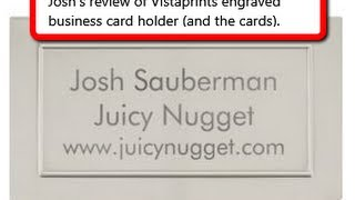 Vistaprint Business Card Holder Review