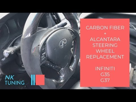 How to install a carbon fiber steering wheel (Infiniti G35, G37, Q60)