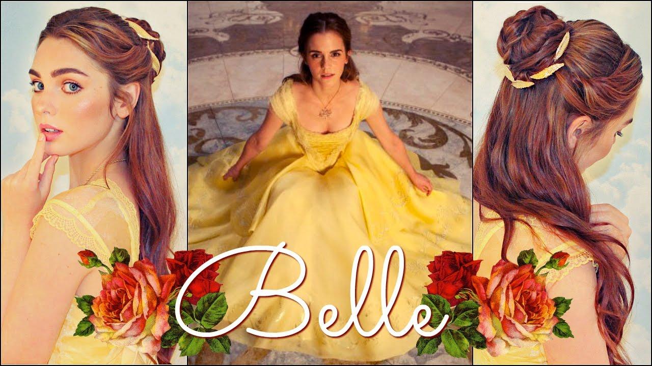 Emma Watsons Belle Makeup Hair Tutorial Beauty The Beast