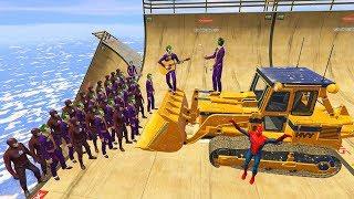 GTA 5 Crazy Ragdolls Spiderman Vs Joker & FLASH (Euphoria Physics, Fails, Funny Moments)