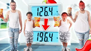 Who Can GAIN The MOST Weight Eating SPICY FOOD ONLY - Challenge! *NO WATER* Winner Gets $10,000
