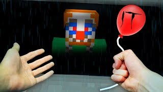REALISTIC MINECRAFT - STEVE MEETS IT! 🤡