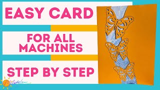 Easy Cricut Butterfly Encouragement Card | [step by step] for Joy and other Cricut Machines