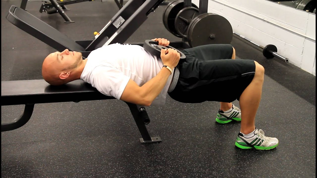 Bench Supported Glute Bridge Youtube