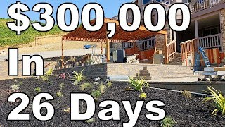300000 landscaping job in 26 days luxury landscape construction