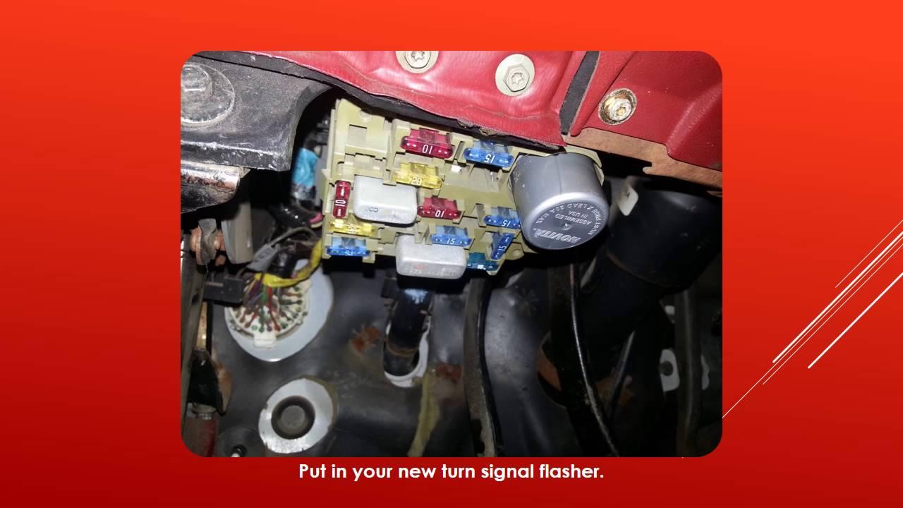 1994 chevy truck wiring diagram advance fluorescent ballast ford ranger - turn signals won't flash easy 7$ fix. youtube