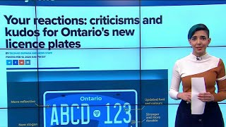 Reaction To Ontario's New Licence Plate