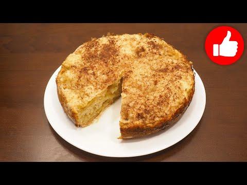 Пирог насыпной с яблоками и творогом в мультиварке