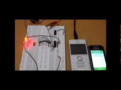Decoding DTMF code from mobile phone using MT8870