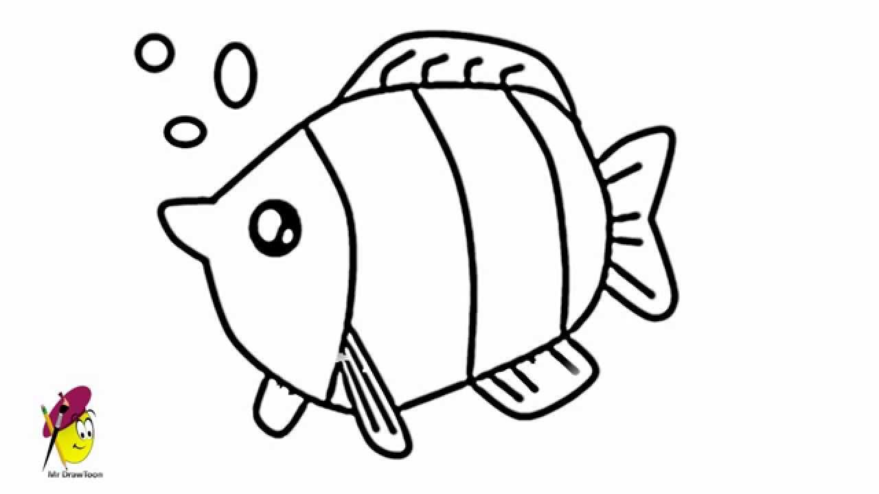 Cool Fish Easy Drawing How To Draw Fish Youtube