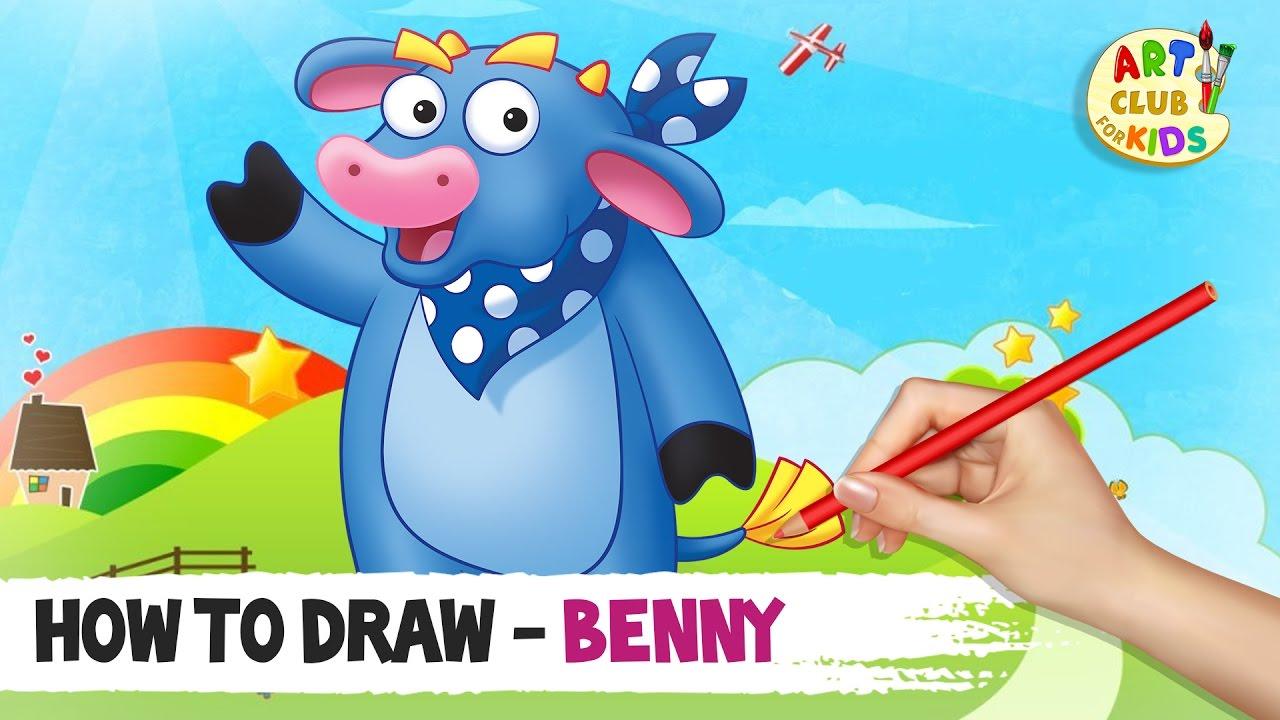 How to draw Benny | Dora the Explorer | Art Club for Kids