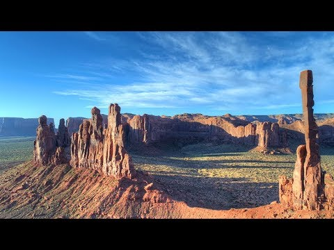 Amazing Monument Valley - The Totem Pole Aerial 4k UHD